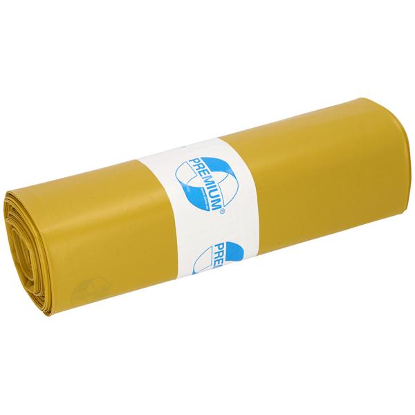 LDPE-Müllsäcke DEISS PREMIUM 120 L, gelb