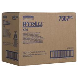 WypAll® X80 farbcodierte Reinigungstücher gelb 7567