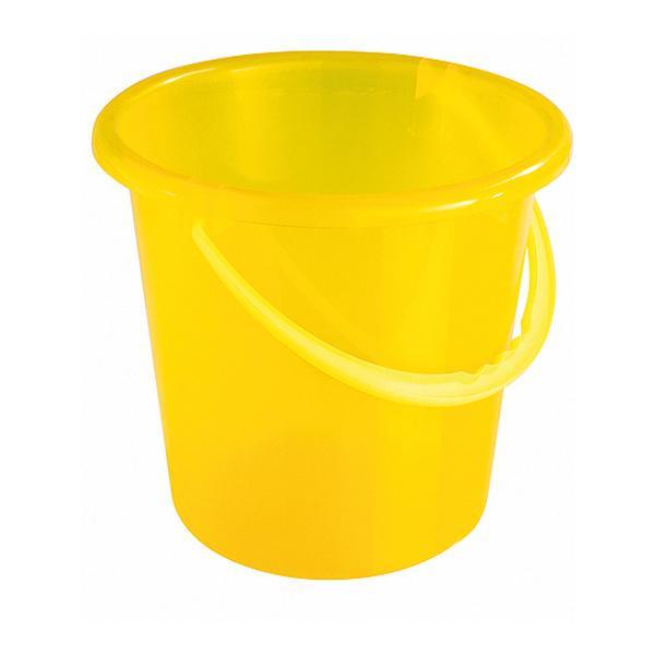 Plastikeimer rund 10 Liter gelb