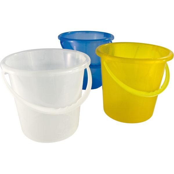 Plastikeimer rund 10 Liter blau