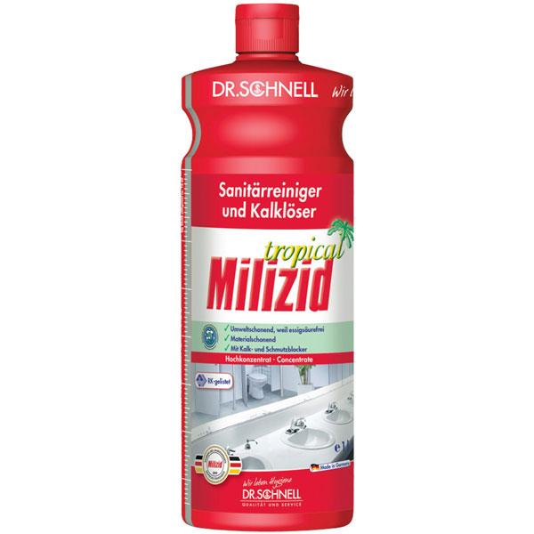 Dr.Schnell Milizid Tropical Sanitärreiniger & Kalklöser 1 Liter