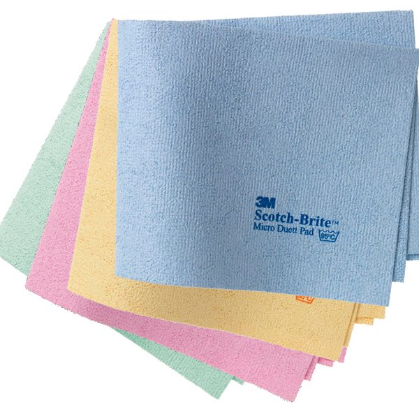 3M™Scotch-Brite™Micro Duett Pad Microfasertuch 40 x 32 cm gelb