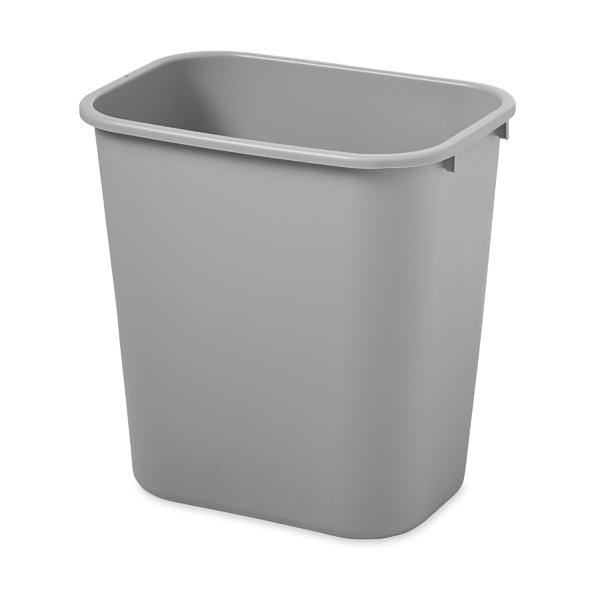Abfallkorb grau 26,6 l