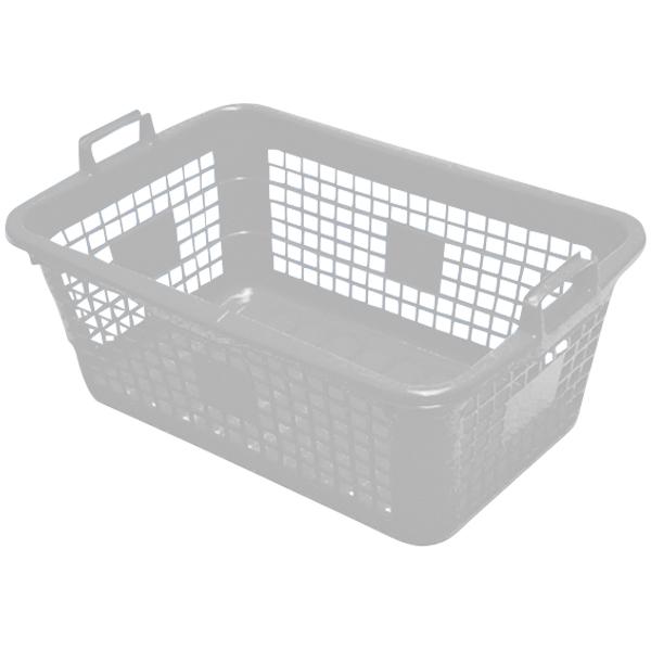 Wäschekorb eckig 85 Liter weiß