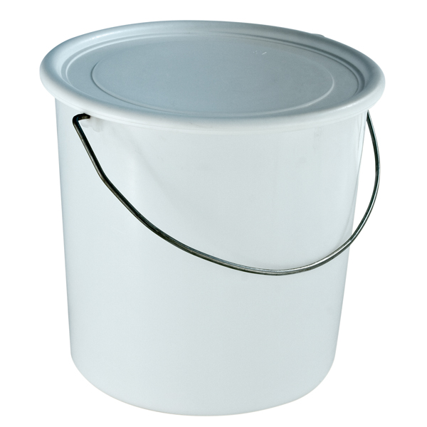 Verpackungseimer PE 5 l weiß