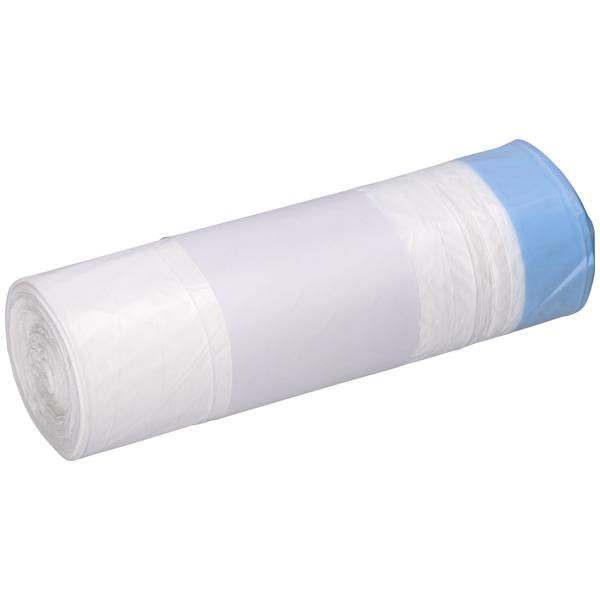 DEISS Zugbandsäcke weiß 30 Liter ( 25 Stück )