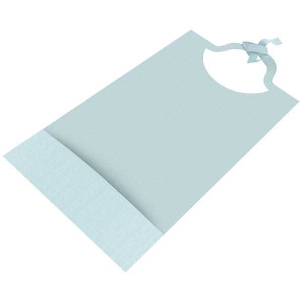 Kolibri bib classic Schutzserviette blau