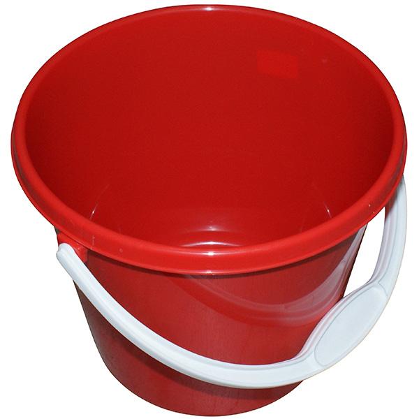 Plastikeimer 5 Liter (mit Deckel) rot
