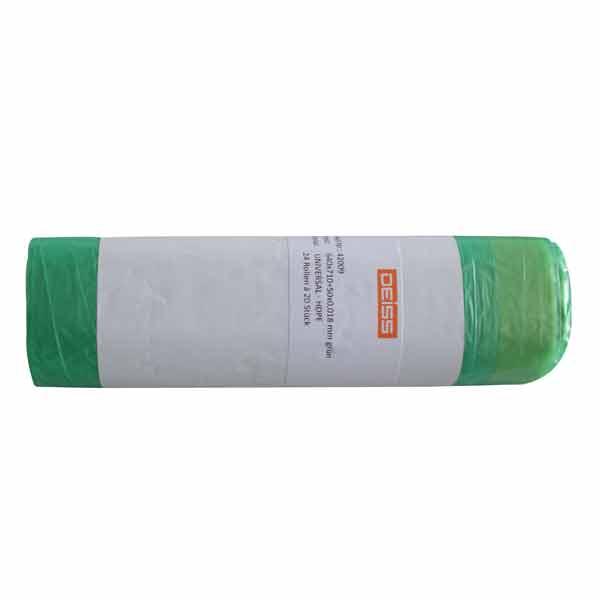 Zugbandsäcke aus HDPE DEISS UNIVERSAL 60 L, grün