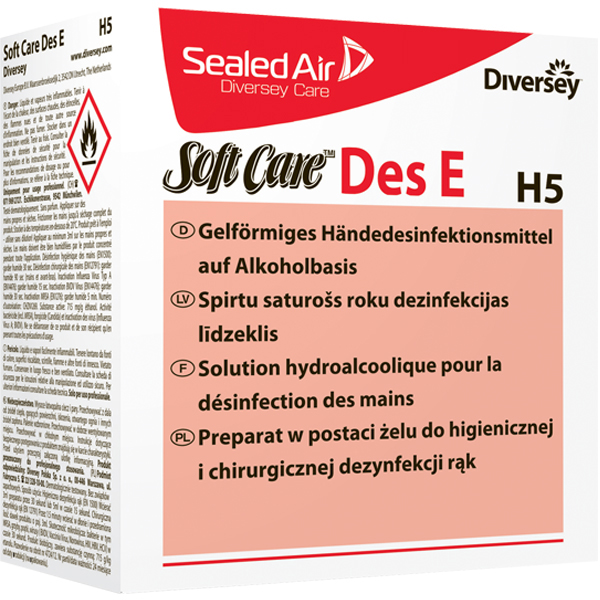 Soft Care® Des E H5 Händedesinfektionsgel 6 x 800 ml