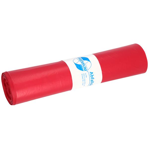 LDPE-Müllsäcke DEISS PREMIUM 120 L, rot
