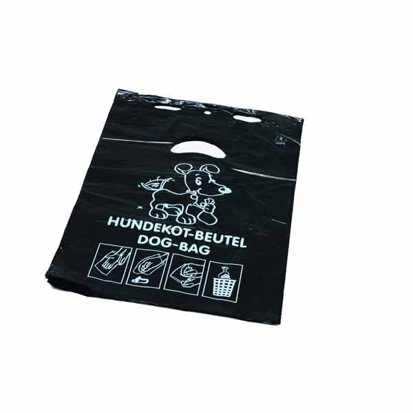 Hundekotbeutel aus HDPE DEISS 6 L, schwarz