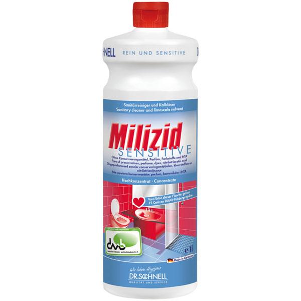 Dr.Schnell Milizid sensitive Sanitärreiniger & Kalklöser 1 Liter