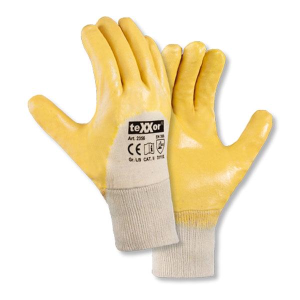 Texxor 2356 Nitril-Handschuh Gelb Gr. 10