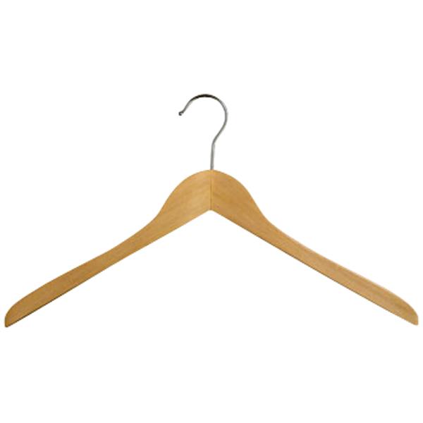 Kleiderbügel aus Holz ohne Steg
