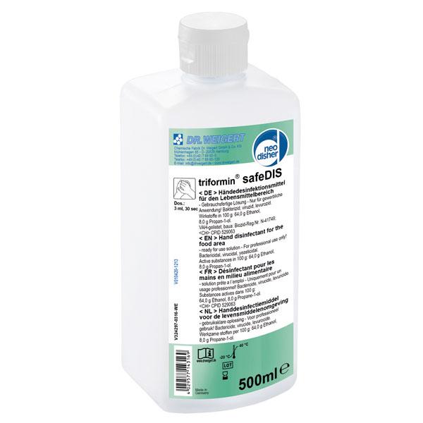 Dr.Weigert triformin® safeDIS Händedesinfektionsmittel 500 ml