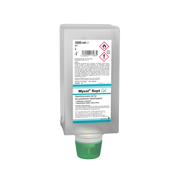 Physioderm® Myxal® SEPT Gel Händedesinfektion 1 Liter