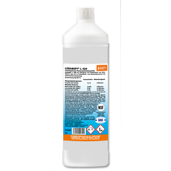 Lerasept® L420 Flächendesinfektion 1 Liter