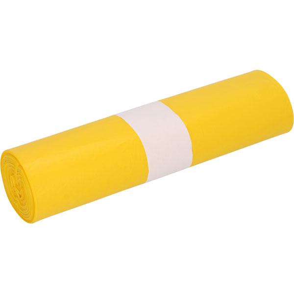 HDPE-Müllsäcke DEISS 70 L, gelb