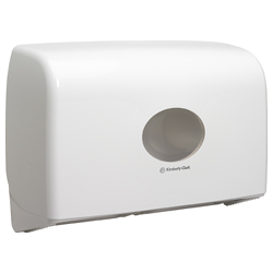 Aquarius™ Twin Mini Jumbo Toilettenpapierspender weiß 6947