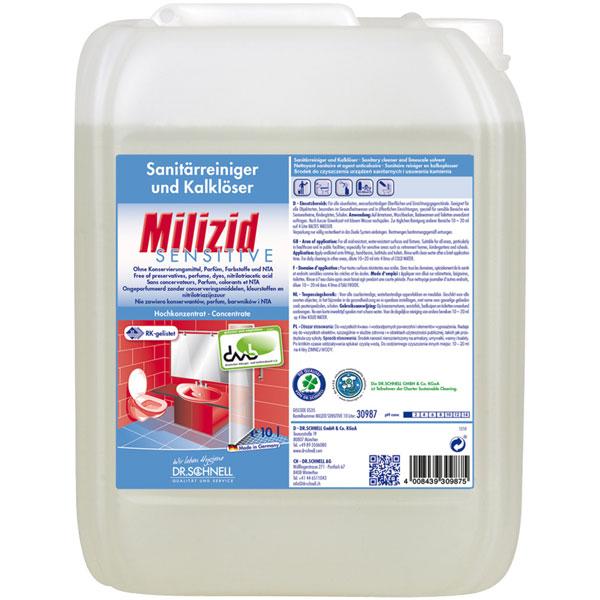 Dr.Schnell Milizid sensitive Sanitärreiniger & Kalklöser 10 Liter