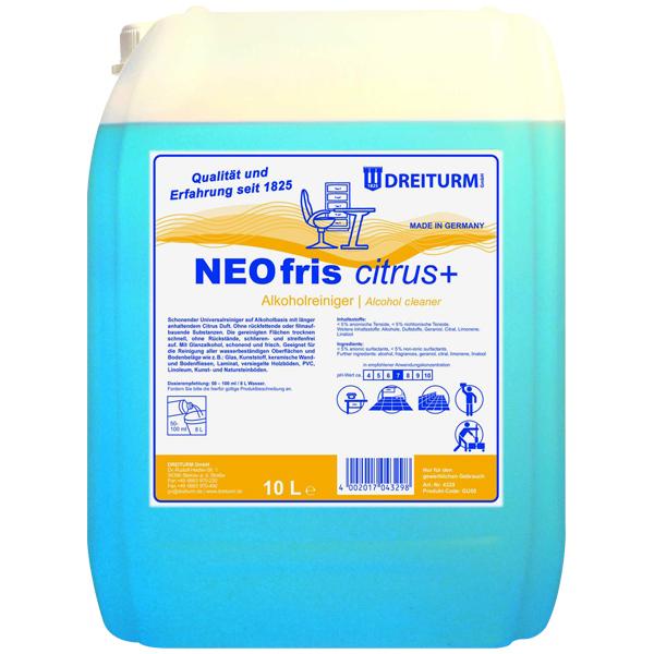 Dreiturm Neofris citrus+ - Alkoholreiniger 10 Liter