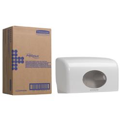 Aquarius * Doppelrollen-Spender für Kleinrollen Toilet Tissue