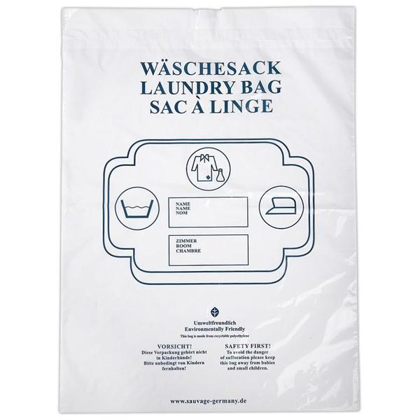 Sauvage Wäschebeutel weiß mit Plastikkordel
