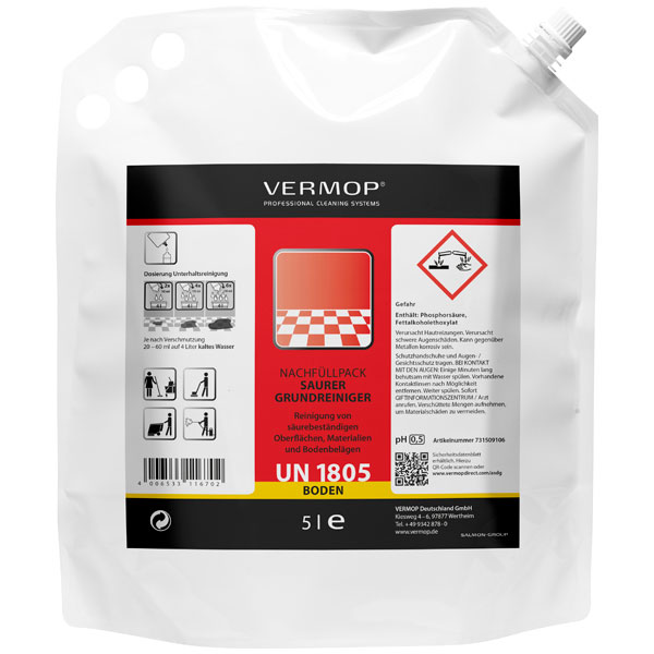 Vermop VM VermoDeep S Sanitärgrundreiniger 2 x 5 Liter