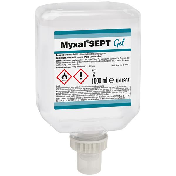 Physioderm® Myxal® SEPT Gel Händedesinfektion 1 Liter