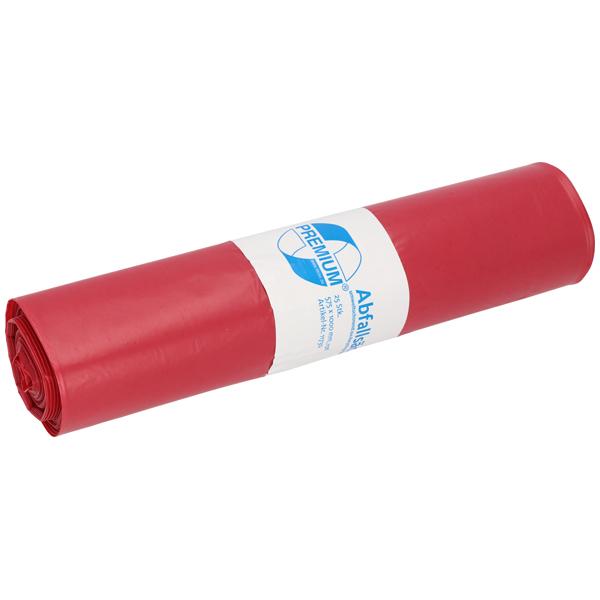 LDPE-Müllsäcke DEISS PREMIUM 70 L, rot