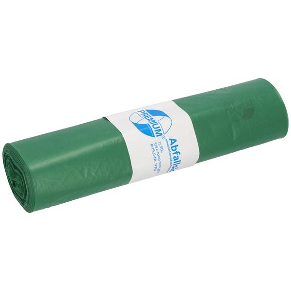 LDPE-Müllsäcke DEISS PREMIUM 70 L, grün
