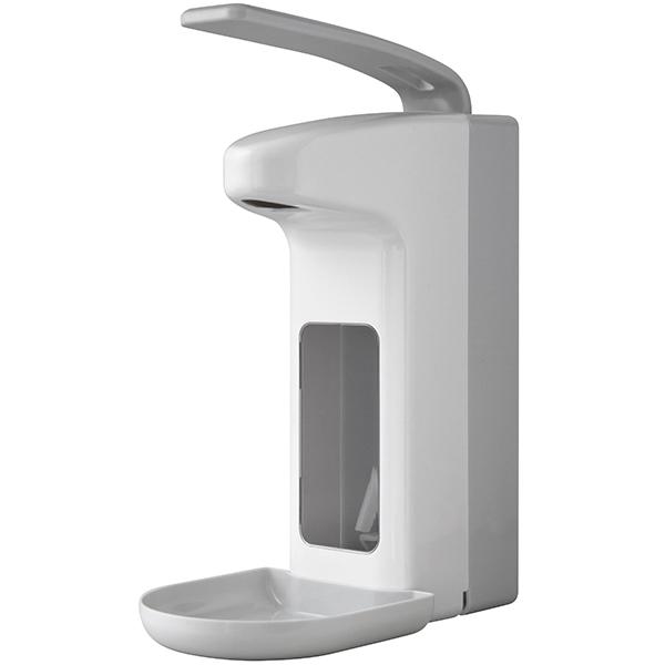 Temdex Desinfektionsmittel & Seifenspender weiß/grau