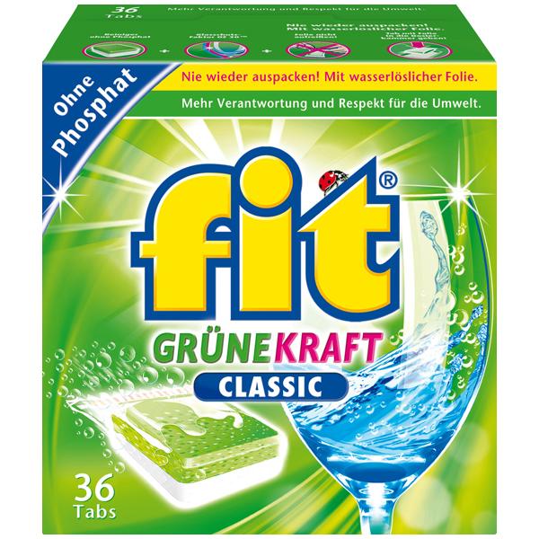 Fit Grüne Kraft Classic Geschirr-Spültabs 36 Stück