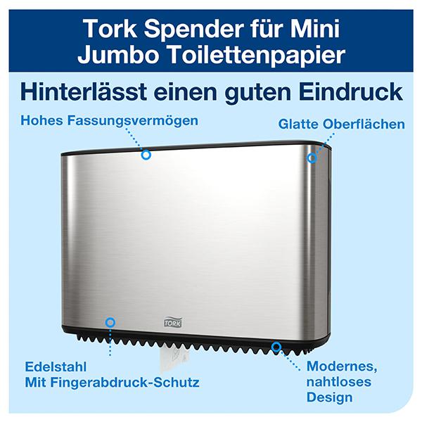 Vorschau: Tork Mini Jumbo Toilettenpapierspender T2 online kaufen - Verwendung 2