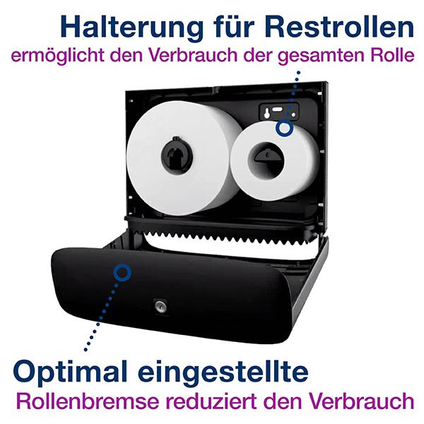 Vorschau: Tork Mini Jumbo Toilettenpapierspender T2 online kaufen - Verwendung 4