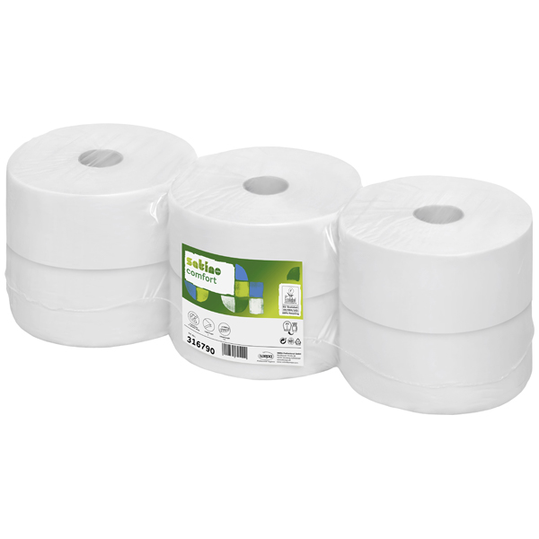 Wepa Satino Comfort Großrollen-Toilettenpapier hochweiß