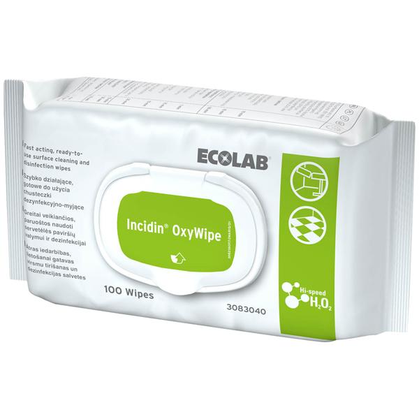 ECOLAB Incidin™ OxyWipe Desinfektionstücher 100 Stück