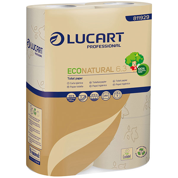 Lucart ECO Natural 6.3 -  Toilettenpapier