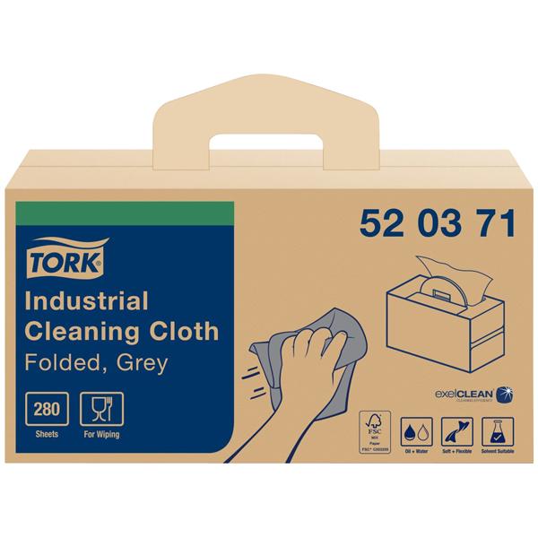 Tork Industrie Reinigungstücher Grau W7, Handliche Box, 1 × 280 B online kaufen - Verwendung 1