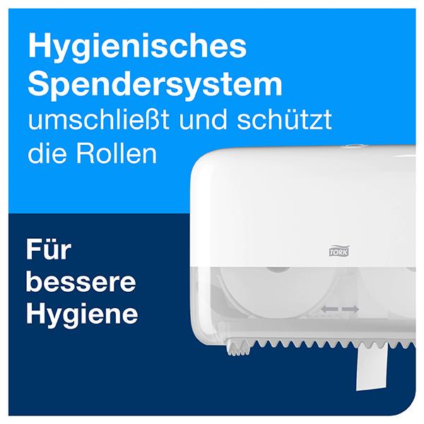 Vorschau: Tork Doppelrollen Toilettenpapierspender T7 online kaufen - Verwendung 4