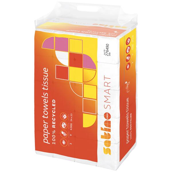 WEPA Satino Smart Falthandtuch weiß 24 cm x 23 cm online kaufen - Verwendung 1
