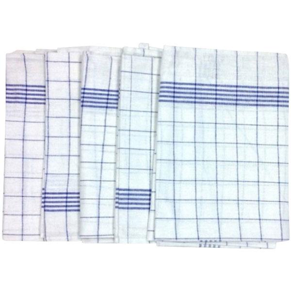 Geschirrtuch 50 x 70 cm blau/weiß