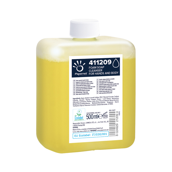 Papernet Schaumseife mild 12 x 500 ml