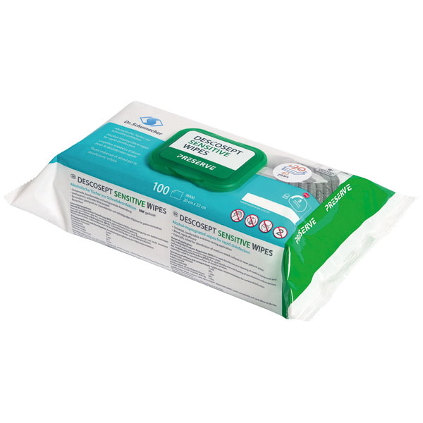 Dr.Schumacher DESCOSEPT Sensitive Wipes - 100 Stück
