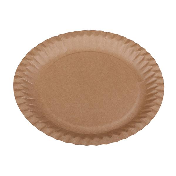 Pappteller Kraft rund