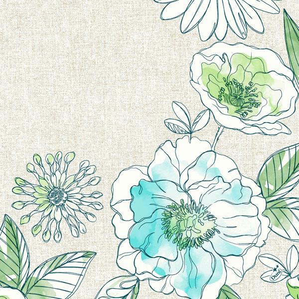 Vorschau: Duni Klassik Zelltuchservietten 40 x 40 cm jardin online kaufen - Verwendung 2
