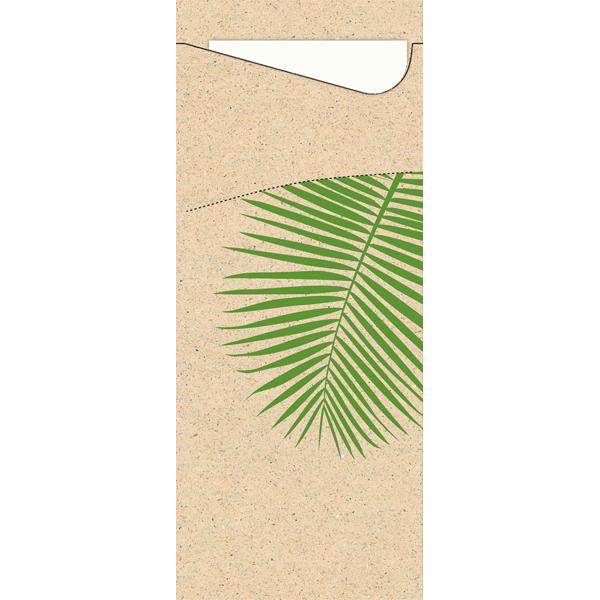 Duni Sacchetto Bestecktasche leaf