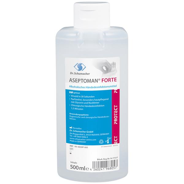 Dr.Schumacher Aseptoman® Forte Händedesinfektionsmittel 500 ml