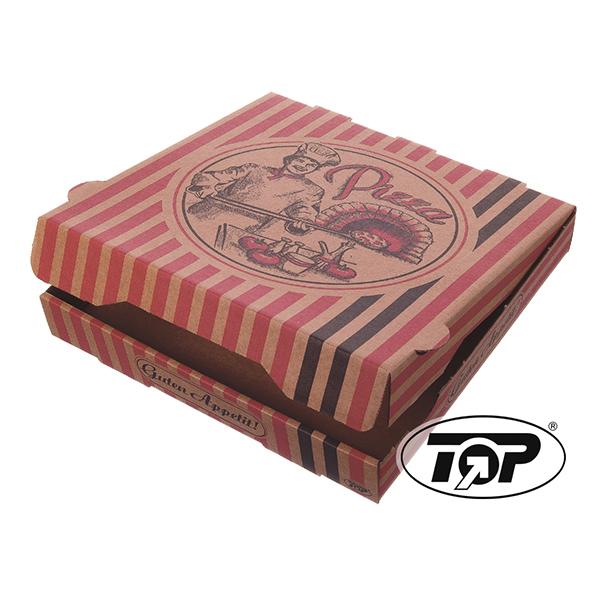 Pizzakarton - Modell Braun NYC - Motiv Pizzabäcker